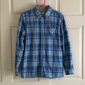 LL Bean Lined Flannel Button Up